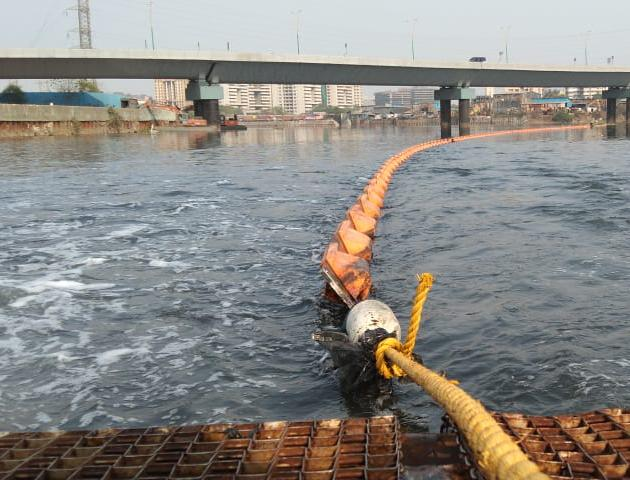 Installation of river cleaning system
